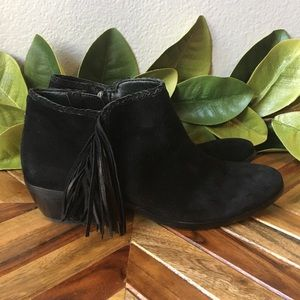 Sam Edelman Paige Boho Suede Fringe Ankle Booties
